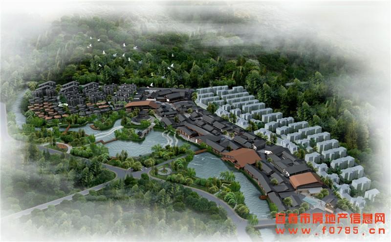 宜春温汤古井泉街
